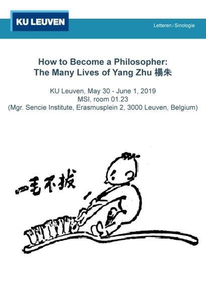"Upcoming Workshop: ""How to Become a Philosopher: The Many Lives of Yang Zhu 杨朱."""