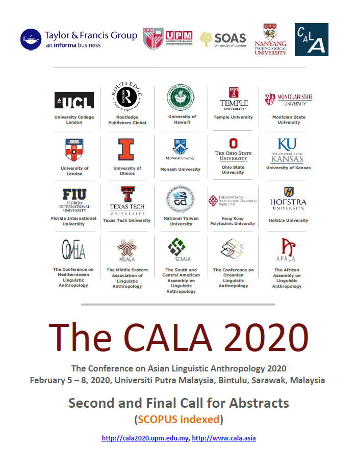 The CALA 2020 – The Conference on Asian Linguistic Anthropology