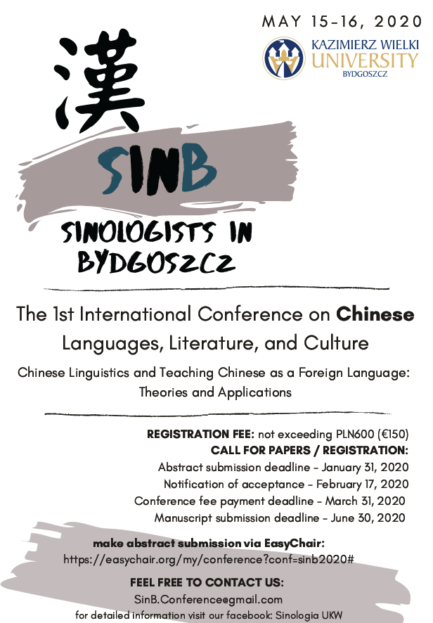 Sinologists in Bydgoszcz: The 1st International Conference on Chinese Languages, Literature and Culture
