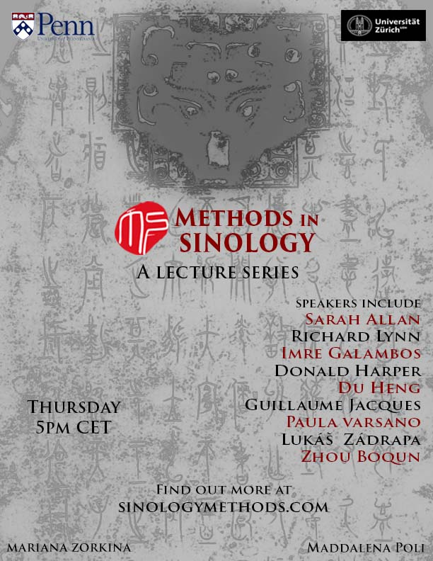 """Online Lecture Series """"Methods in Sinology"""""""